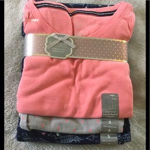 NWT Sonoma 3 Piece Ladies Pajama Set Small 🎄🎅🏼